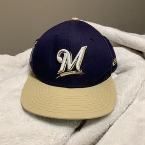 9fifty Milwaukee Brewers Flat Brim Hat